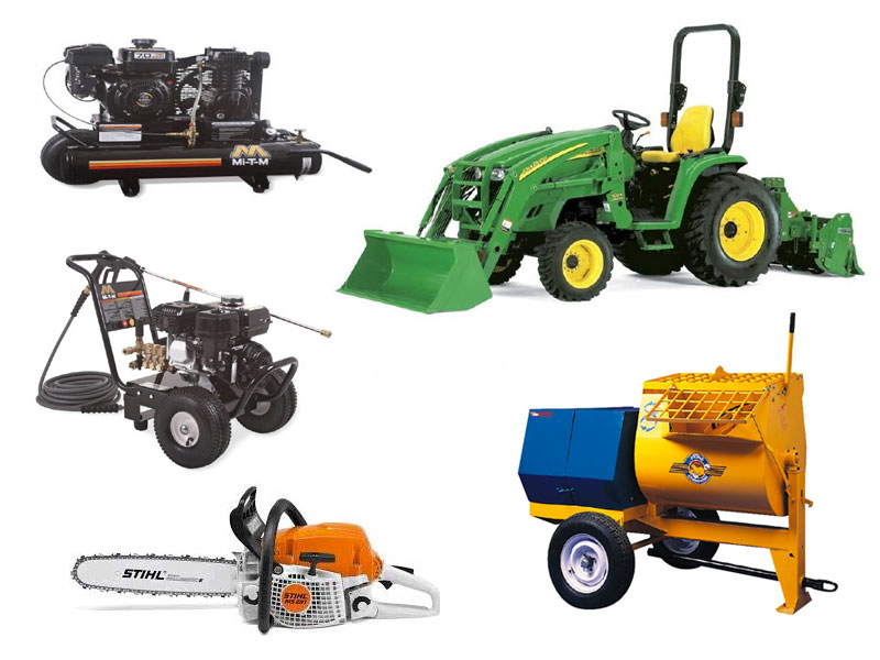 Equipment rentals in Tupelo MS, New Albany MS, Saltillo, Pontotoc, Fulton MS
