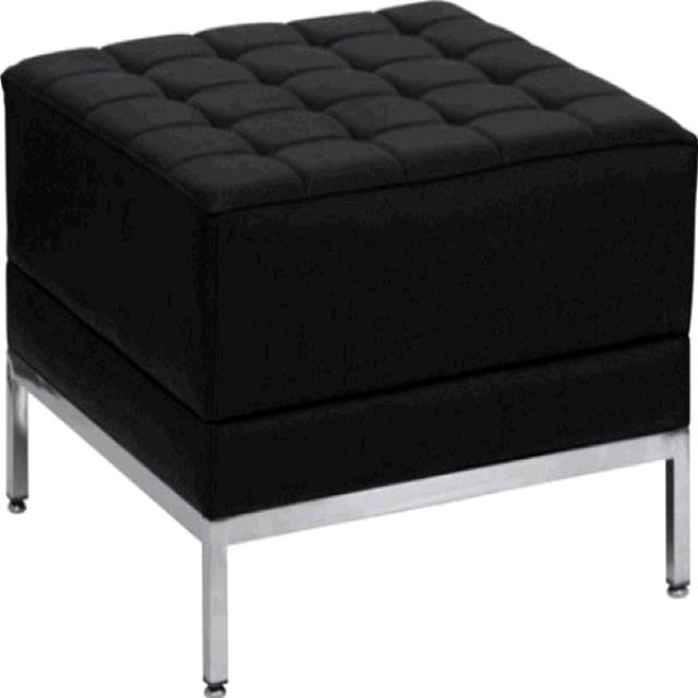 Where to find FURNITURE, LEATHER OTTOMAN BLACK in Tupelo