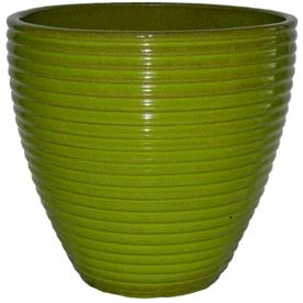 Where to find VASE, GREEN RIBBED PLANTER in Tupelo