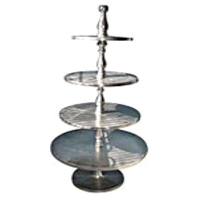 Where to find STAND, SILVER ALUMINUM 4 TIER TALL in Tupelo