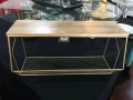 Rental store for TABLE SHELF, WOOD TOP GOLD WIRE in Tupelo MS