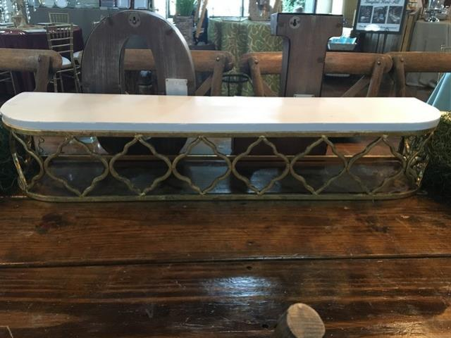 Where to find TABLE SHELF, WHITE TOP GOLD IRON in Tupelo