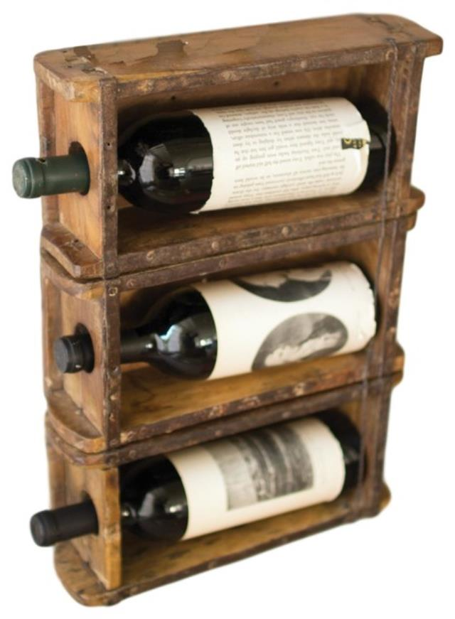 Where to find WOODEN BRICK MOLD WINE RACK in Tupelo