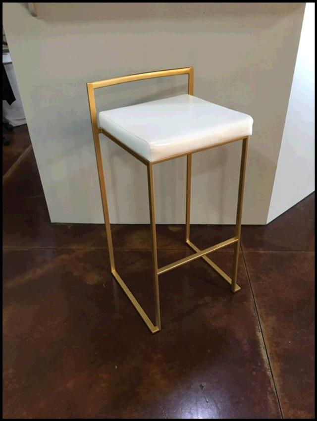 Where to find CHAIR, BARSTOOL GOLD METAL W CUSHION in Tupelo