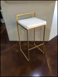 Rental store for CHAIR, BARSTOOL GOLD METAL W CUSHION in Tupelo MS