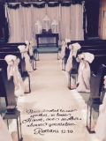 Rental store for AISLE RUNNER IVORY W VERSE in Tupelo MS