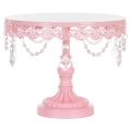 Rental store for CAKE STAND 10  PINK CRYSTAL in Tupelo MS