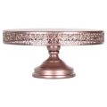 Rental store for CAKE STAND 16  VINTAGE ROSE GOLD in Tupelo MS