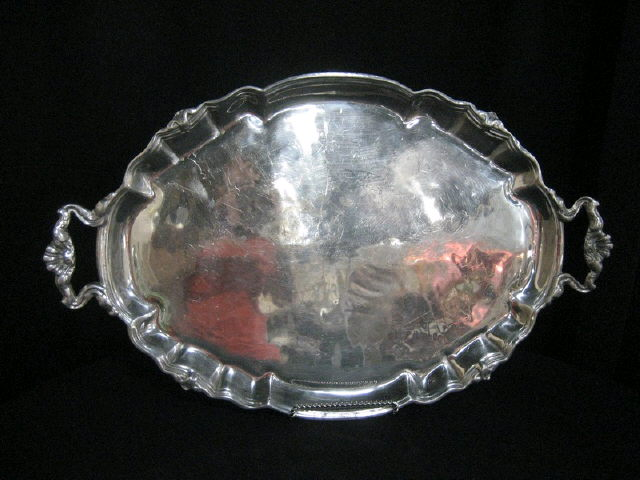 Where to find TRAY, PEWTER OVAL W  HANDLE in Tupelo