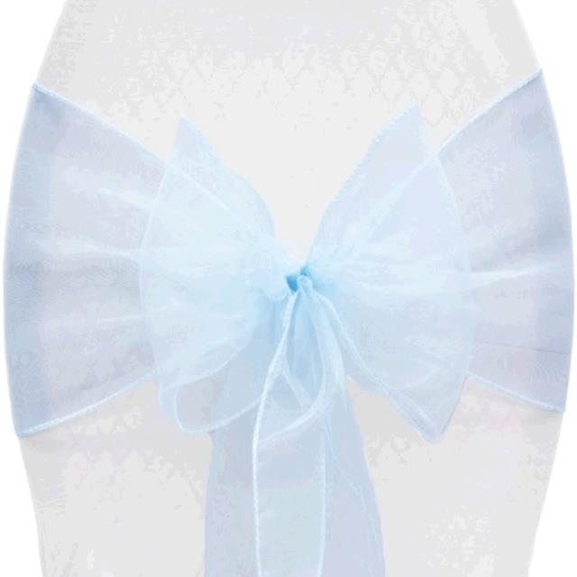 Where to find SASH LT BLUE MIRROR ORGANZA in Tupelo